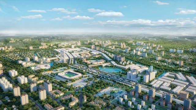 Phối cảnh khu đô thị Kiến Tường Central Mall