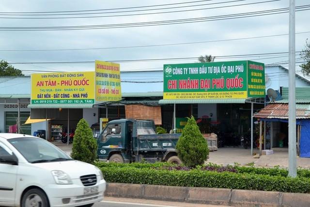 Nhiều dịch vụ mua bán đất đai mọc lên như nấm sau mưa ở Phú Quốc, Kiên Giang. Ảnh: Lao Động.
