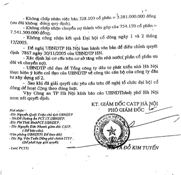 Công an TP Hà Nội chỉ rõ hàng loạt sai phạm của ông Nguyễn Chí Sỹ, Giám đốc Công ty HACINCO.