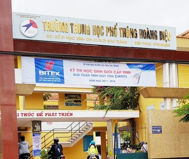 Trường THPT Hoàng Diệu, nơi xảy ra vụ việc.