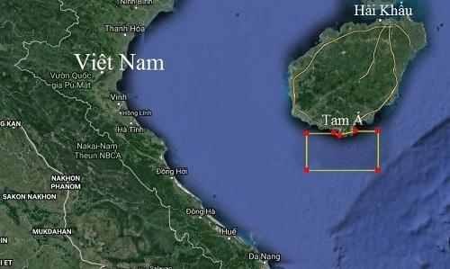 Trung Quốc tập trận kéo dài 7 ngày ở Biển Đông. Ảnh: Google Maps.