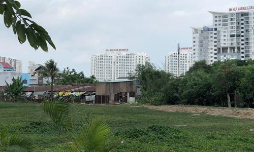 Một phần khu đất Quốc Cường Gia Lai mua của Công ty Tân Thuận. Ảnh: Tuyết Nguyễn.