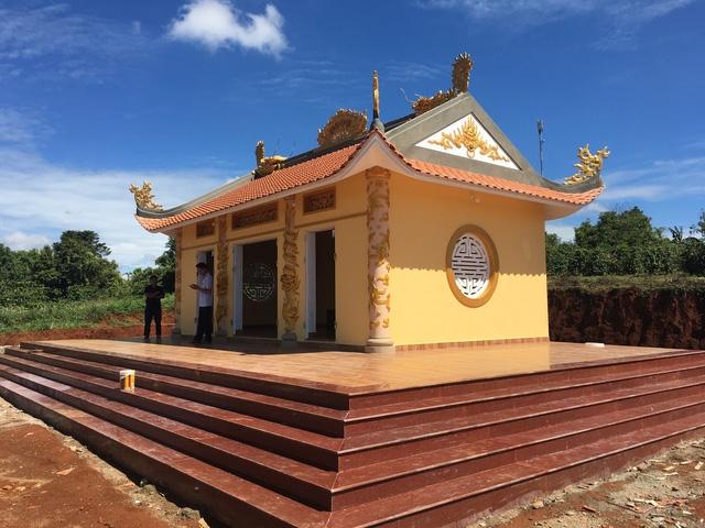 Đền thờ Vua Hùng tại xã biên giới Đắk Búk So (huyện Tuy Đức)