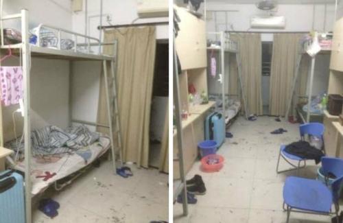 Phòng ngủ chật chội của các công nhân. Ảnh: China Labor Watch.
