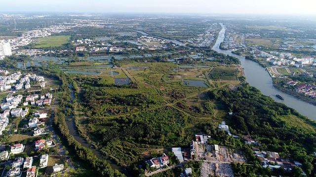Khu vực 32ha mà Công ty TNHH MTV đầu tư và xây dựng Tân Thuận bán cho Công ty Quốc Cường Gia Lai (Ảnh: Nguyễn Quang).