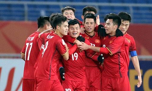 U23 Việt Nam vượt qua bảng đấu khó khăn để làm nên lịch sử. Ảnh: Anh Khoa.