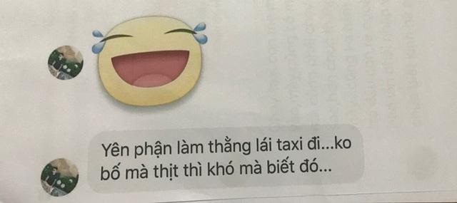 Tin nhắn đe dọa gia đình anh Minh đăng tải công khai trên mạng (một số câu từ tục tĩu chúng ta xóa mờ).