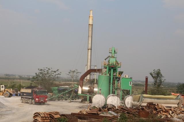 Huyện Cẩm Xuyên yêu cầu xử lý nghiêm vi phạm của Cơ sở trộn bê tông nhựa nóng của Công ty Biển Đông và những cá nhân liên quan