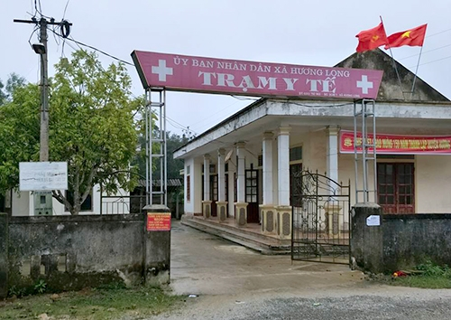 Trạm y tế xã Hương Long, nơi xảy ra sự việc vào ba tháng trước. Ảnh: Đ.H