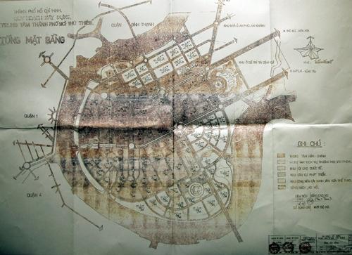 Bản đồ được cho là quy hoạch 1/5.000 Khu ĐTTT.
