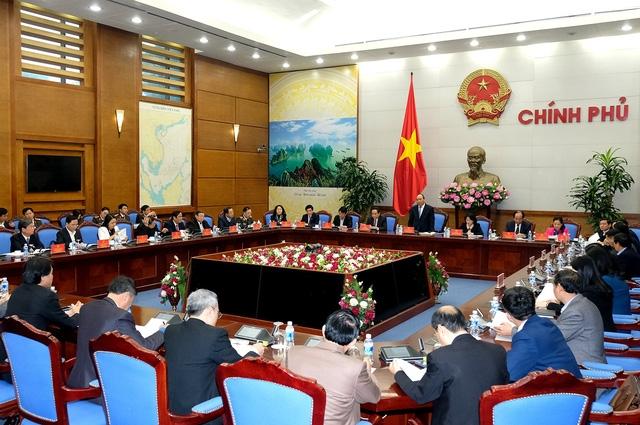 Thủ tướng chủ trì hội nghị tại trụ sở Chính phủ.