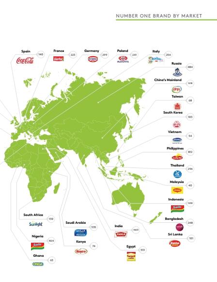 Bản đồ các Thương hiệu số 1 trên Thế giới