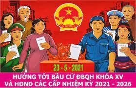 Nhận tài liệu liên quan đến công tác bầu cử của Tổ bầu cử đại biểu Quốc hội, HĐND nhiệm kỳ 2021-2026