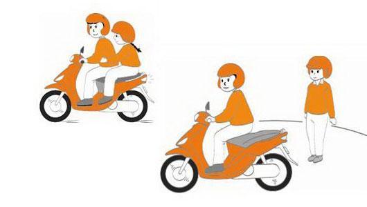 Khi nào được chở theo hai người khi đi xe máy?
