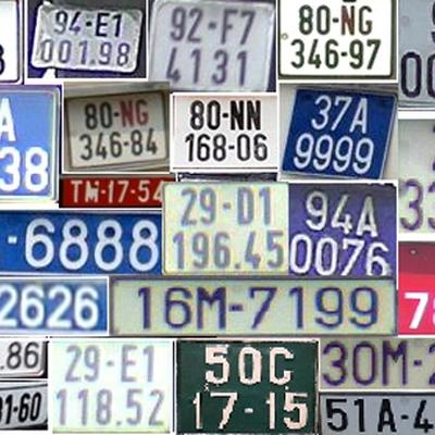 Công an huyện được cấp biển số cho những loại xe nào?