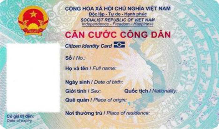 Thẻ CCCD có ghi thông tin bằng tiếng anh không?