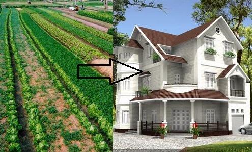 Thủ tục chuyển mục đích đất vườn sang đất ở
