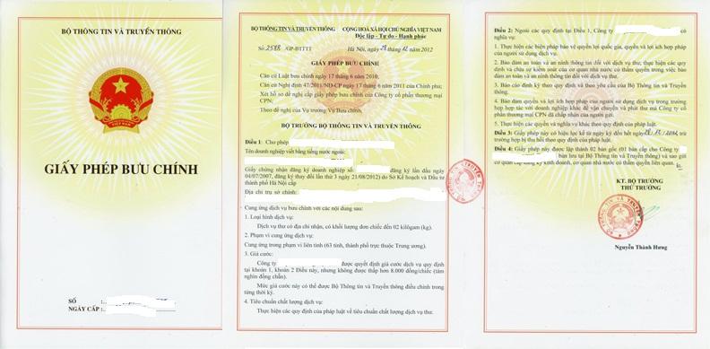 Mức phạt tiền đối với hành vi tẩy xóa, sửa chữa nội dung trong giấy phép bưu chính