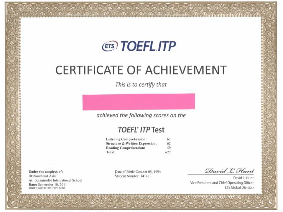 Bằng Toefl có được chấp nhận khi thi tuyển công chức không?