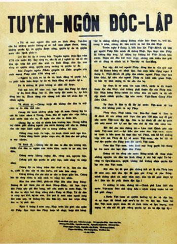Nội dung của Bản Tuyên Ngôn Độc Lập 1945