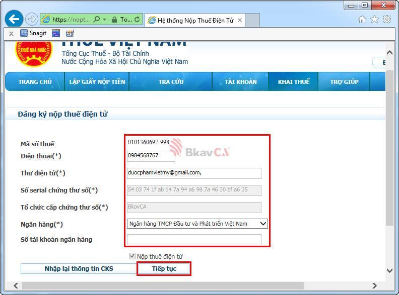 Đăng ký thuế điện tử như thế nào?