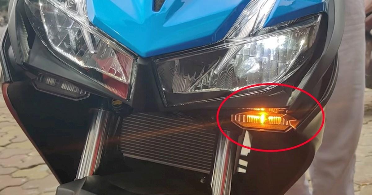 Thay đổi vị trí đèn xi nhan xe máy khác với thiết kế bị phạt như thế nào?